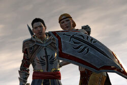 DA2 Aveline and Ser Wesley Vallen cutscene