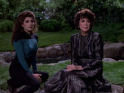 Deanna and Lwaxana Troi, 2370