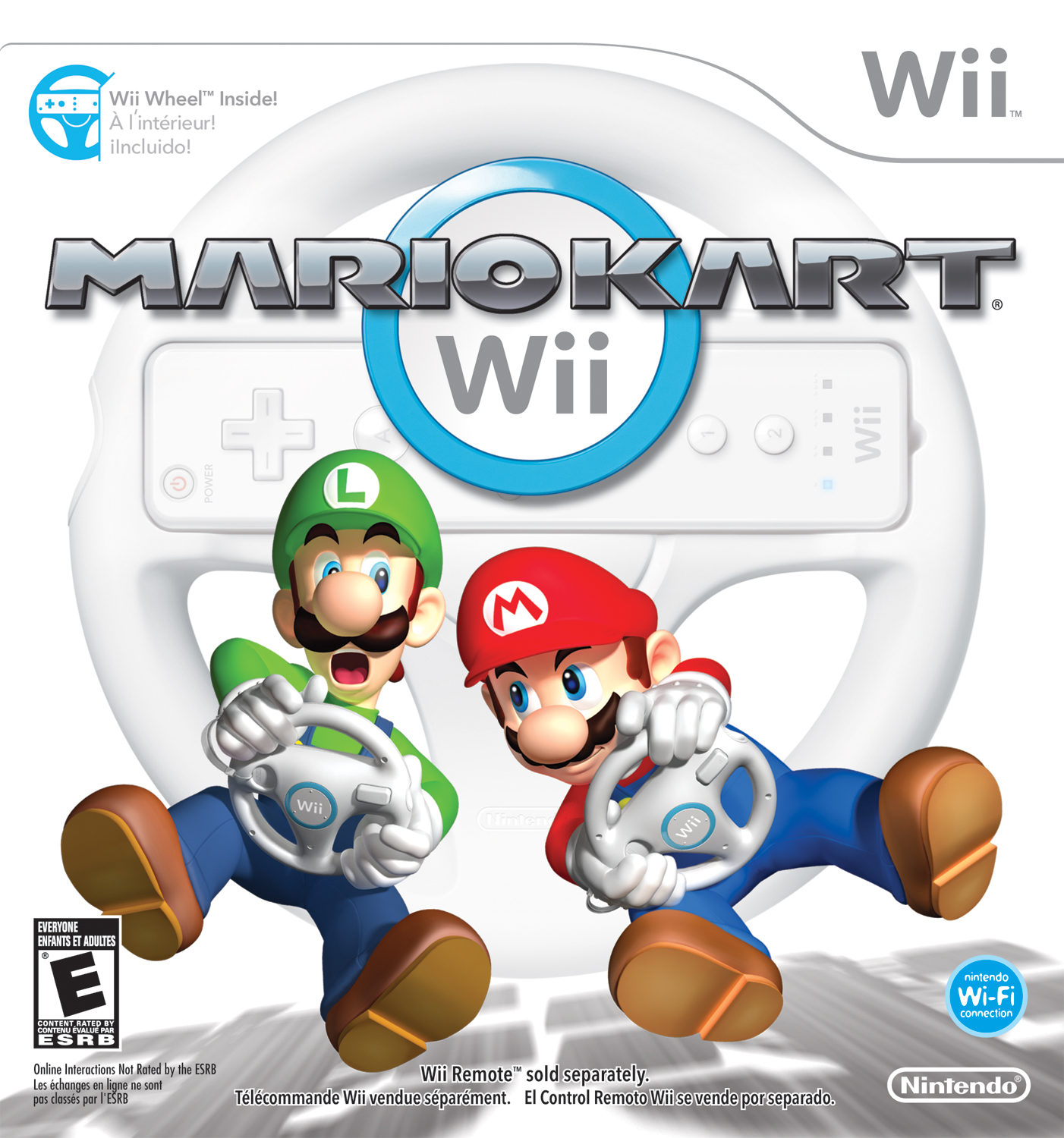 Nintendo Mario Kart Wii with Wii Wheel Official Wii Wheel Included