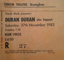 Odeon, Birmingham wikipedia theatre ticket duran duran city of culture 2013