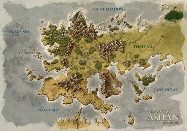 Might and Magic Heroes 6 - Map of Ashant