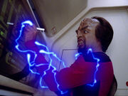 Worf is shocked by creature