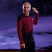 Beta Renner cloud talks through Picard