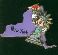 New York Mickey Pin