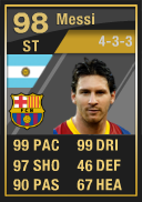 TOTY SIF Lionel Messi (IF3) 98