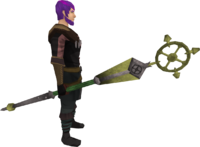 Ancient staff (yellow) equipped