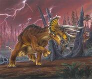 Triceratops With Lightening