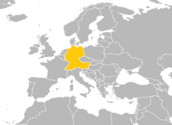 Location of the Germanic Federation