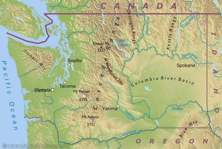 Similiar Map Of Washington Mountain Ranges Keywords