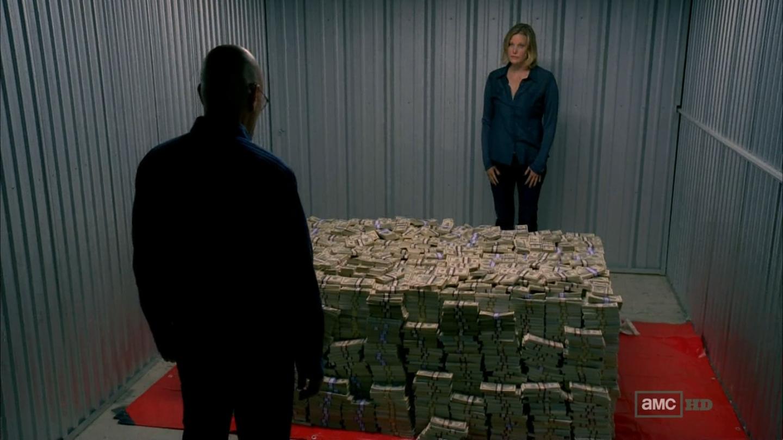 Walter White Storage Room Money