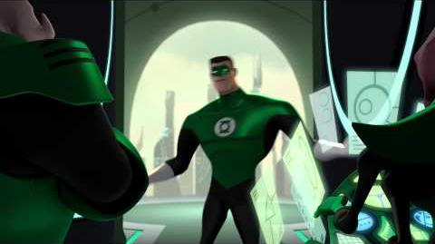 Green Lantern Animated Series Clip - Hal on OA