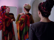 Tasha in Troi's quarters