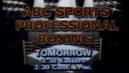 ABC Sports' Professional Boxing Video Promo For Late Saturday Afternoon, March 23, 1986