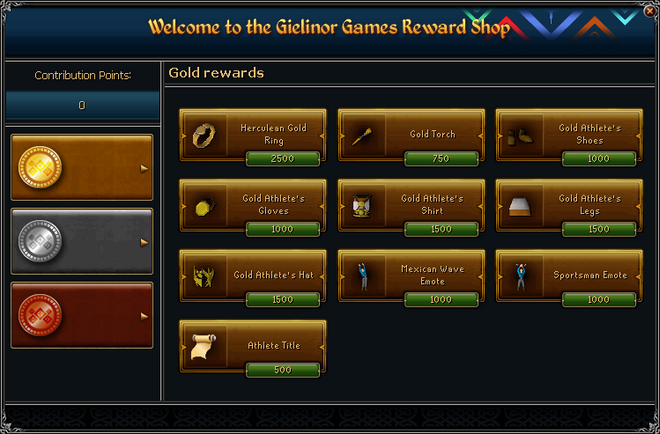 Gielinor Games Reward Shop (gold) interface
