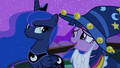 Angry Princess Luna looking at Twilight S02E04.png