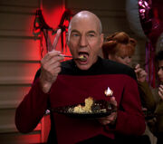 Picard eats cake
