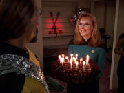Worf birthday cake