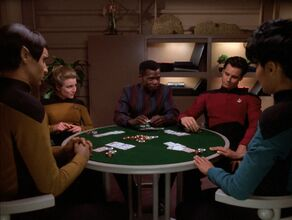 Junior officers playing poker
