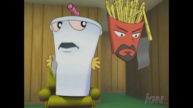 Aqua Teen Hunger Force Zombie Ninja Pro-Am PlayStation 2 Gameplay - Intro