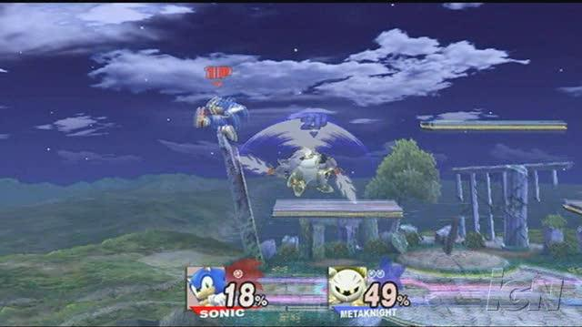 Super Smash Bros. Brawl Nintendo Wii Video - Sonic vs. Meta (long)