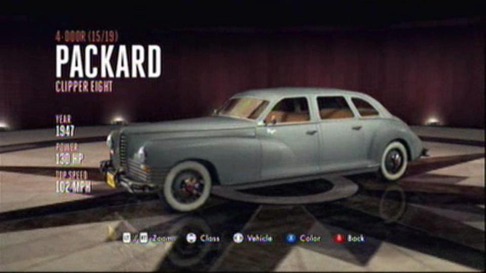 L.A. Noire Hidden Vehicles 4-Door - Packard Clipper Eight - Downtown, Central