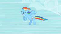 Rainbow Dash flying S2E08