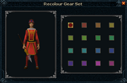 Queens Guard Recolouring Options