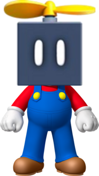 Mario with a Propeller Block