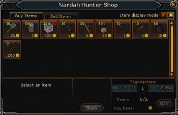 Nardah Hunter Shop stock