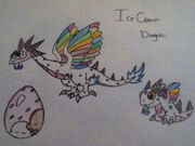 My dragonvale ice cream dragon