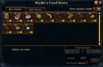 Wydin's Food Store stock