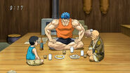 Toriko, Komatsu and Yocchi eating Niwatora egg