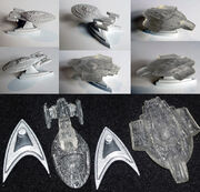 Hot Wheels USS Voyager and USS Defiant prototypes