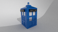 LEGO TARDIS Render