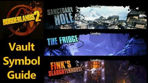 Borderlands 2 - Vault Symbols - Sanctuary Hole, Fink's Slaughterhouse and The Fridge