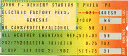 Philadelphia PA (USA), JFK Stadium genesis blondie duran duran ticket stub wikipedia