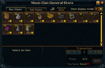 Moon Clan General Store stock