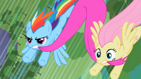 Rainbow Dash and Fluttershy try to save Spike and Rarity S2E10