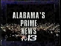 WVTM-TV's TV-13's Alabama's Prime News video open from December 1990