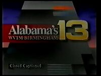 WVTM-TV's Alabama's 13 ID with Closed Captioned video from February 1994
