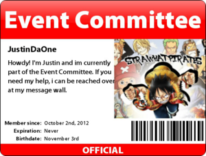 Event Committee Badge - Justin