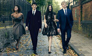 Angel Coulby Colin Morgan Katie McGrath and Bradley James-1