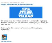Super Villain Island arrives tomorrow!