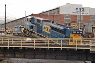 Wrecked CSX SD80MAC