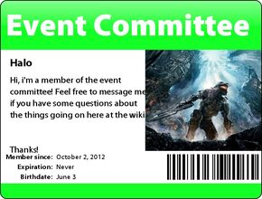 Event Committee Badge (Halo)