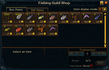 Fishing Guild Shop stock