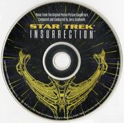Star Trek Insurrection CD soundtrack imprint