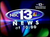 WVTM-TV NBC 13 News @ 10pm video opening from December 2006