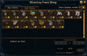 Shantay Pass Shop stock