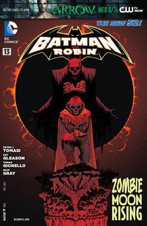 La cobertura de Batman y Robin # 13